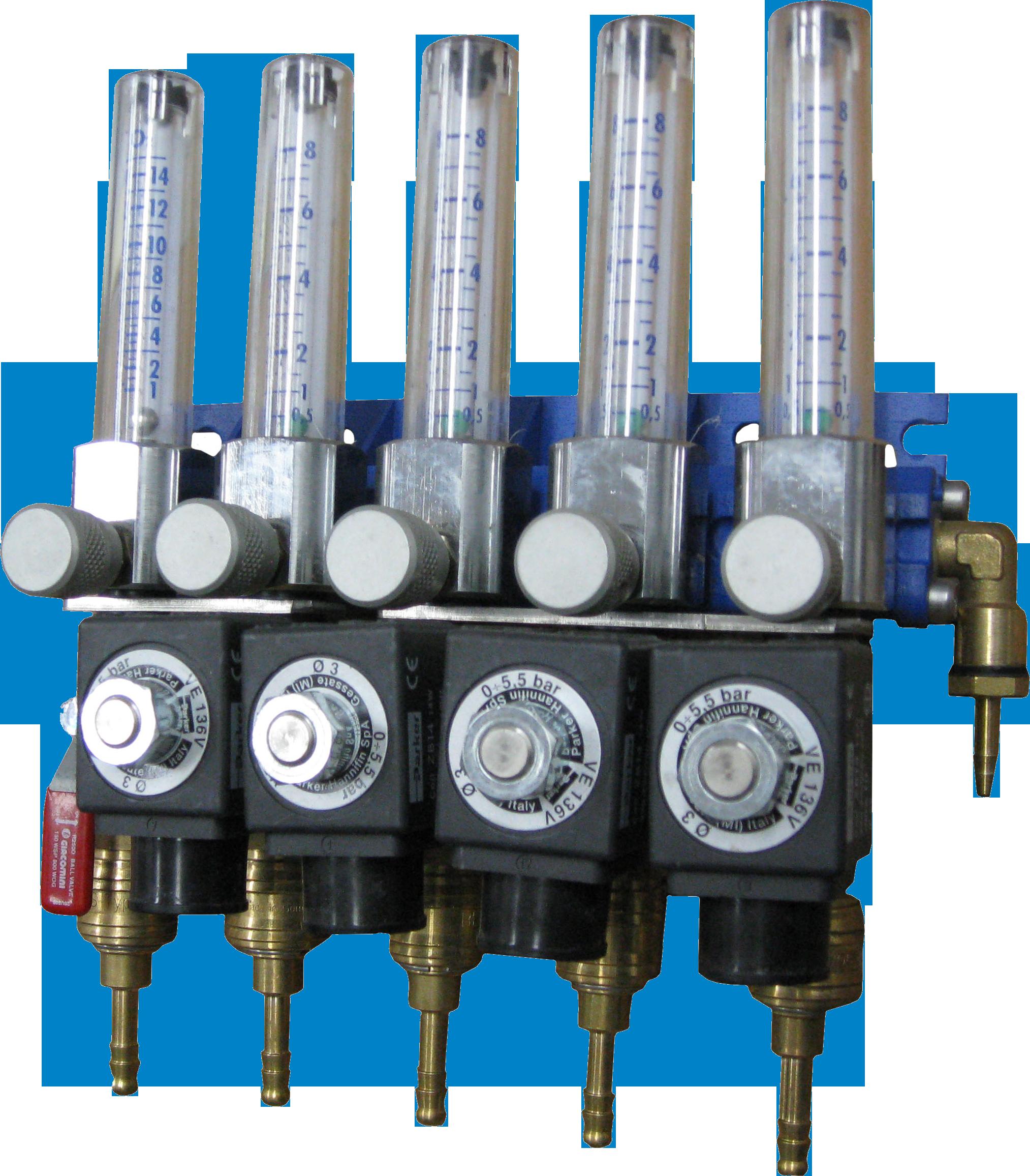Кислородный ротаметр с электромагнитным клапаном